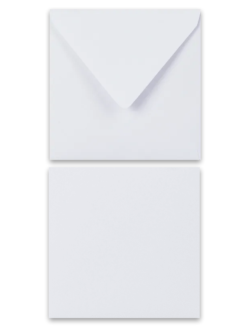 Biela obálka DL 146x146 120g papier
