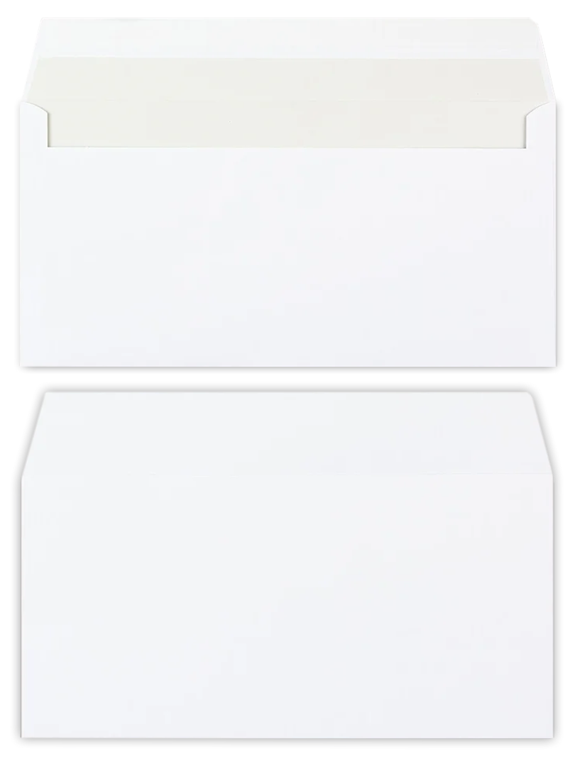 Biela obálka DL 110x220 120g papier
