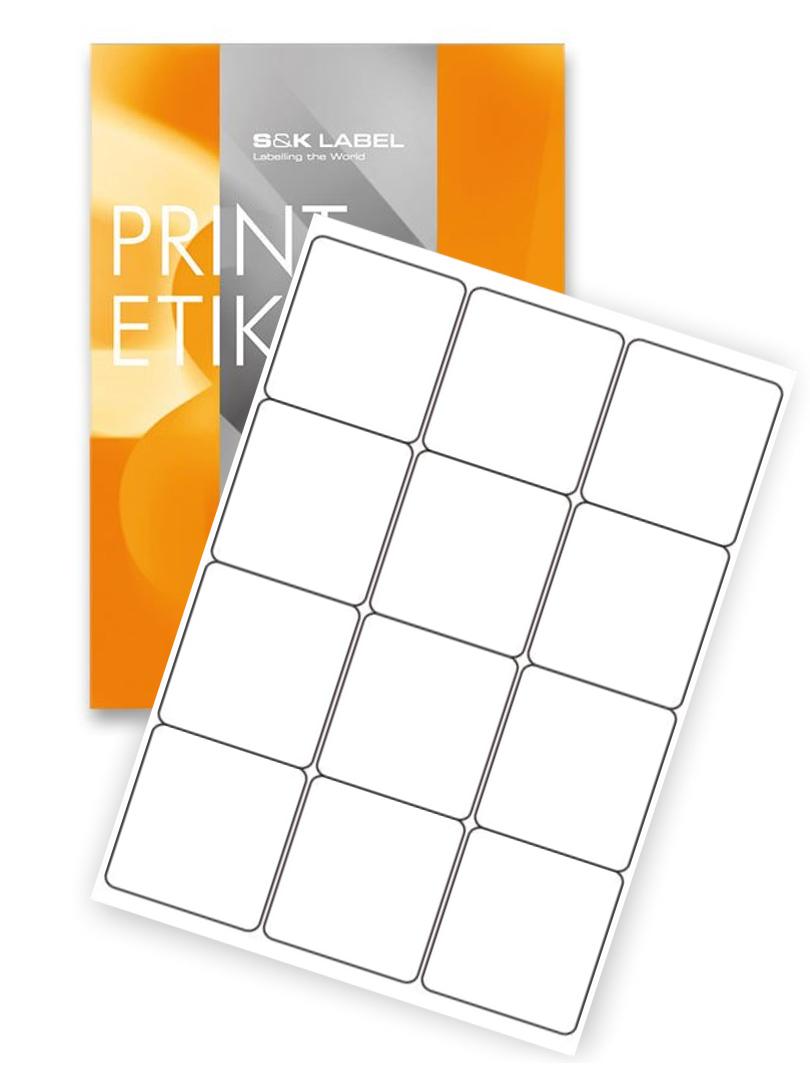 samolepiace etikety 66 x 70 mm A4