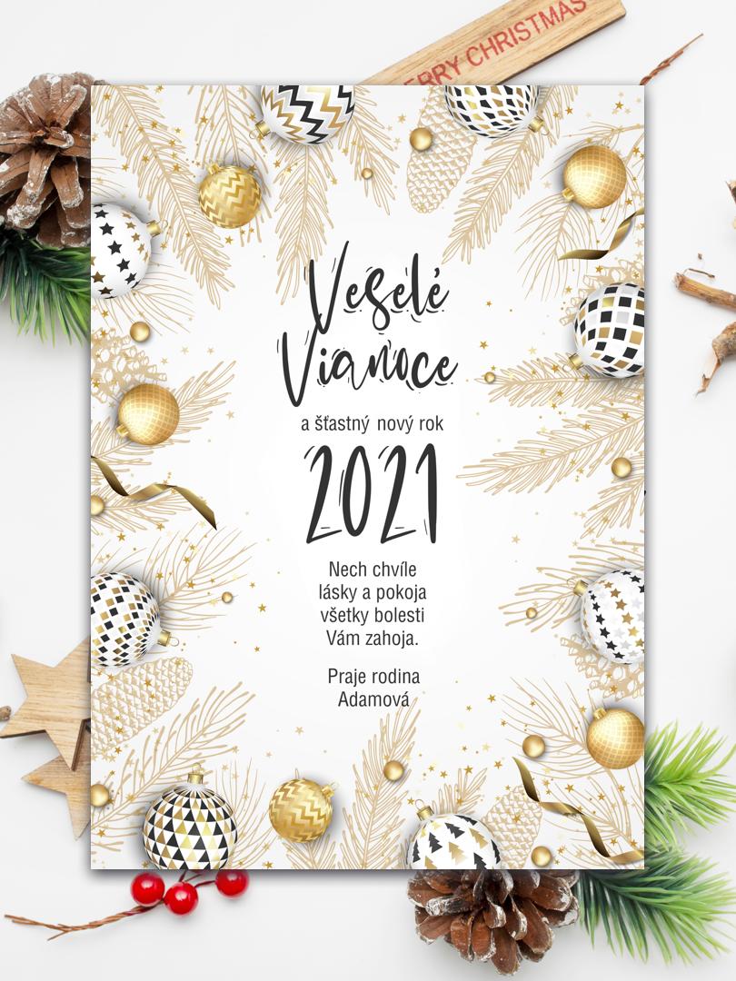 Vianočná pohľadnica personalizovaná