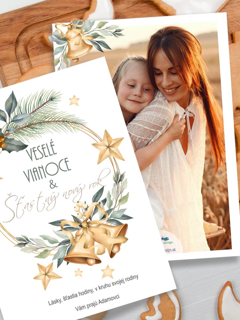 Vianočná pohľadnica s rodinou