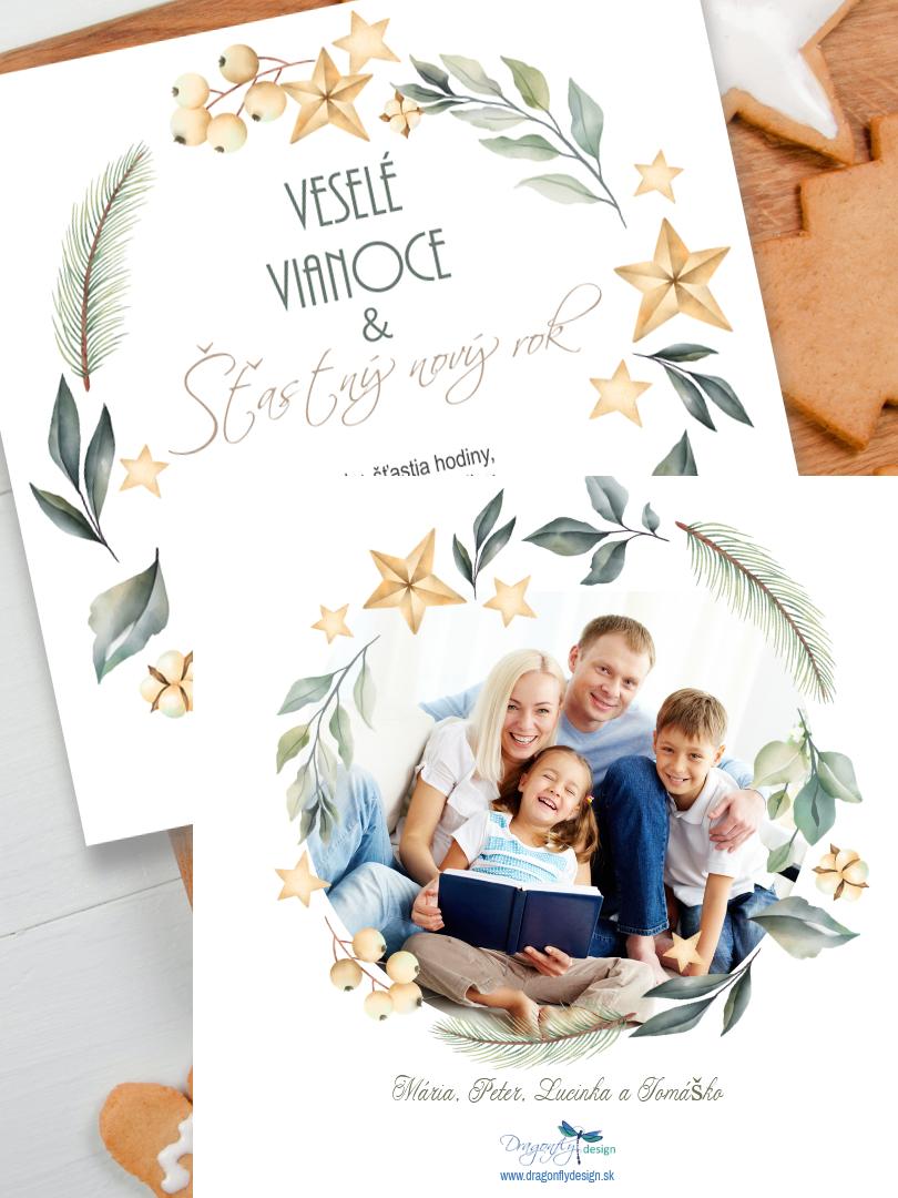 Personalizovaná vianočná pohľadnica