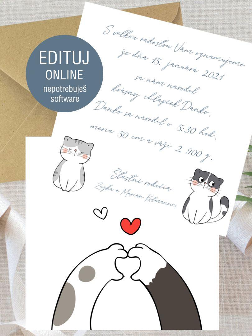 Personalizovaná pohľadnica k narodeniu dieťaťa