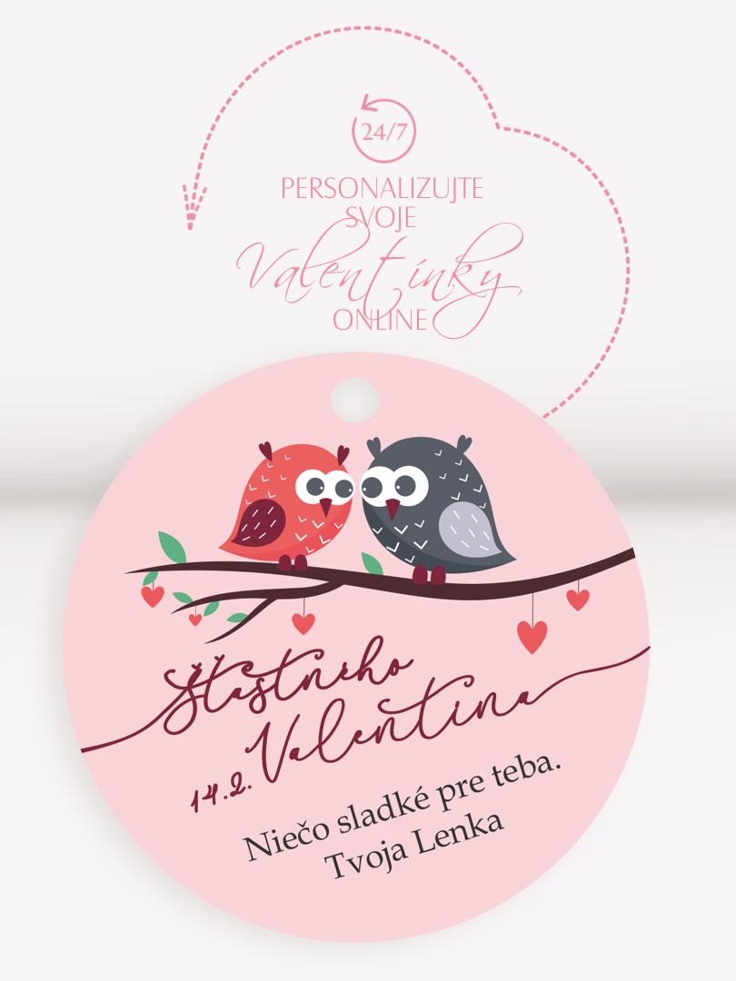 Menovka na valentínku