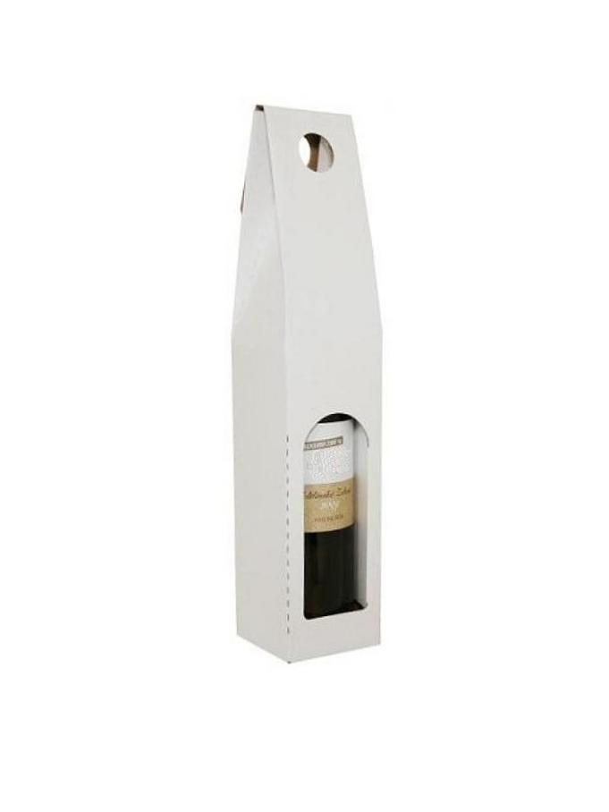 Darčekový obal na víno, biely