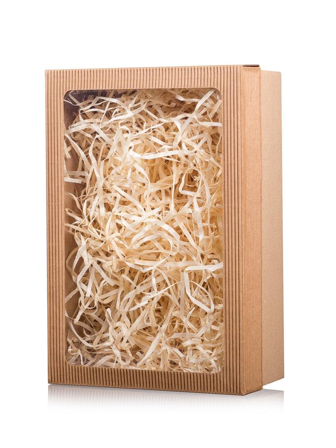škatulka + drevitá vlna