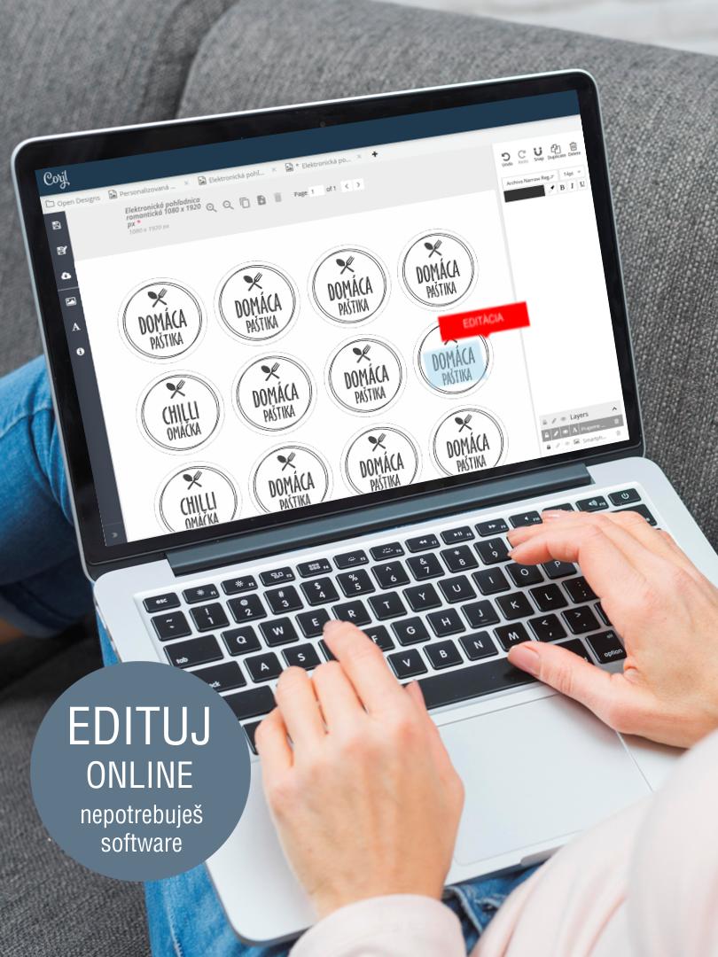 Etikety na orechy s online editáciou