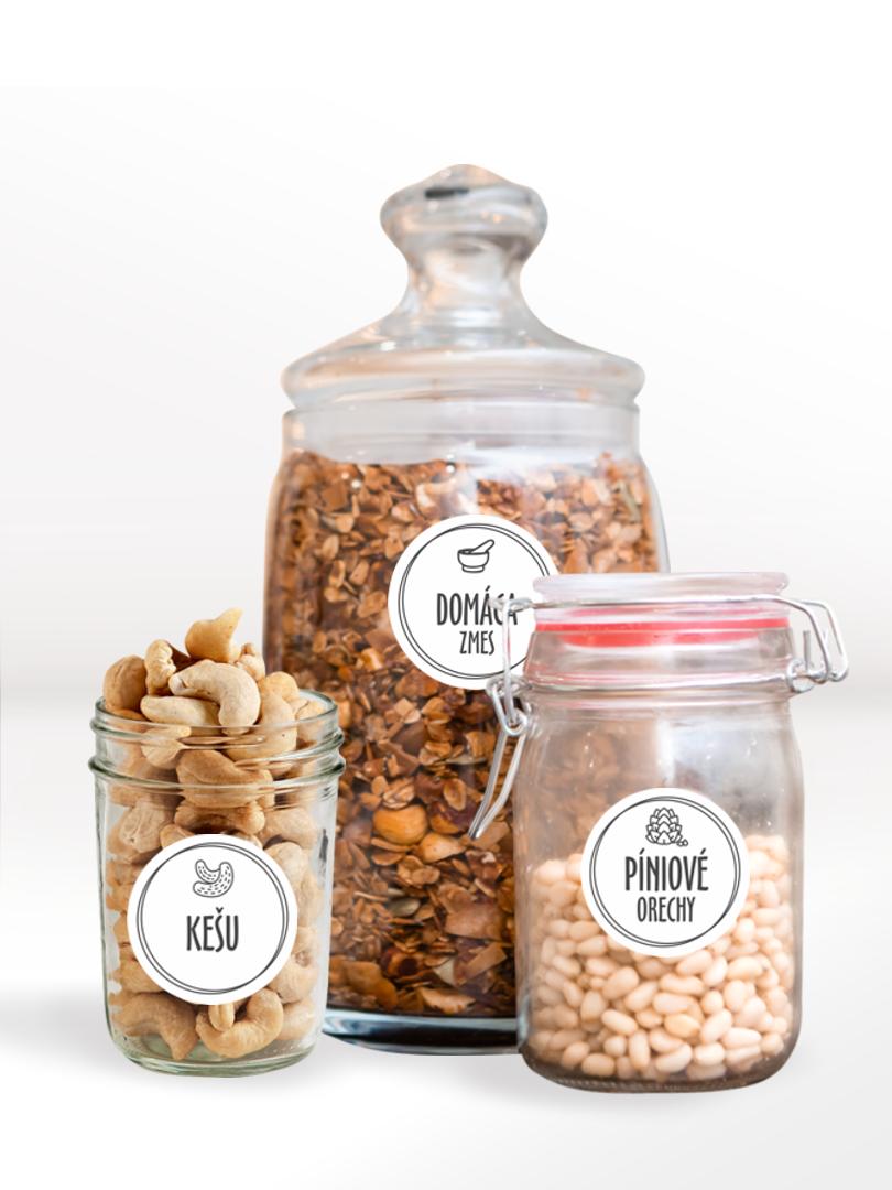 Etikety na orechy na vytlačenie