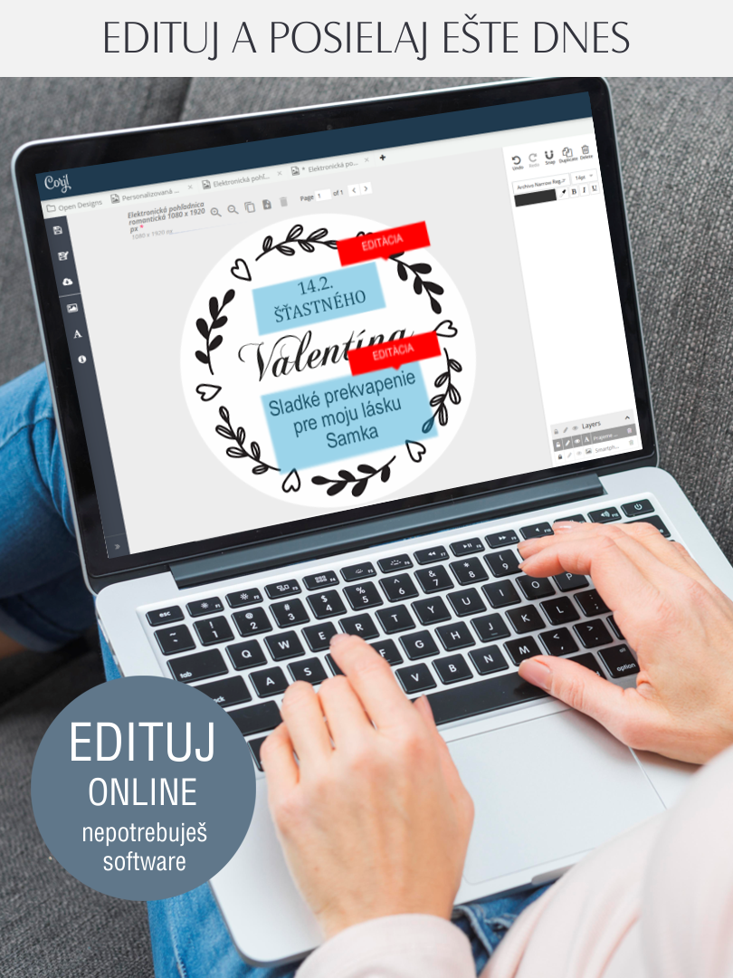 Online editácia menovky alebo etikety
