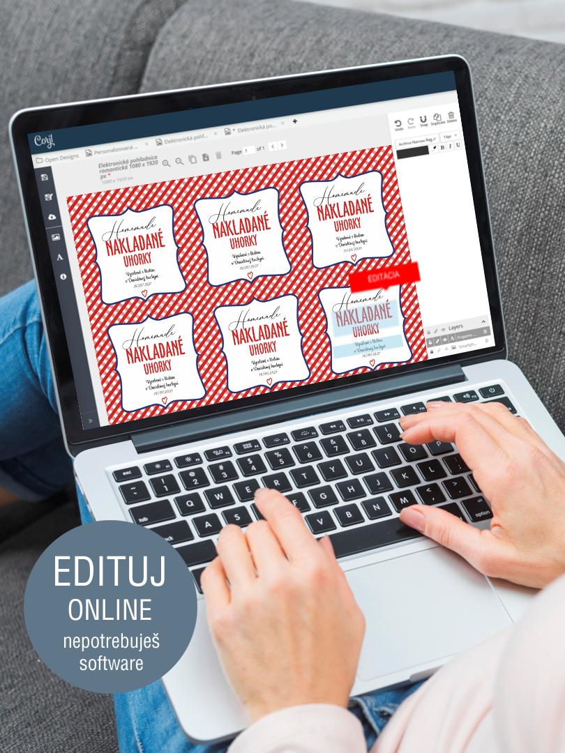 Etikety na domáci lekvár s online editáciou