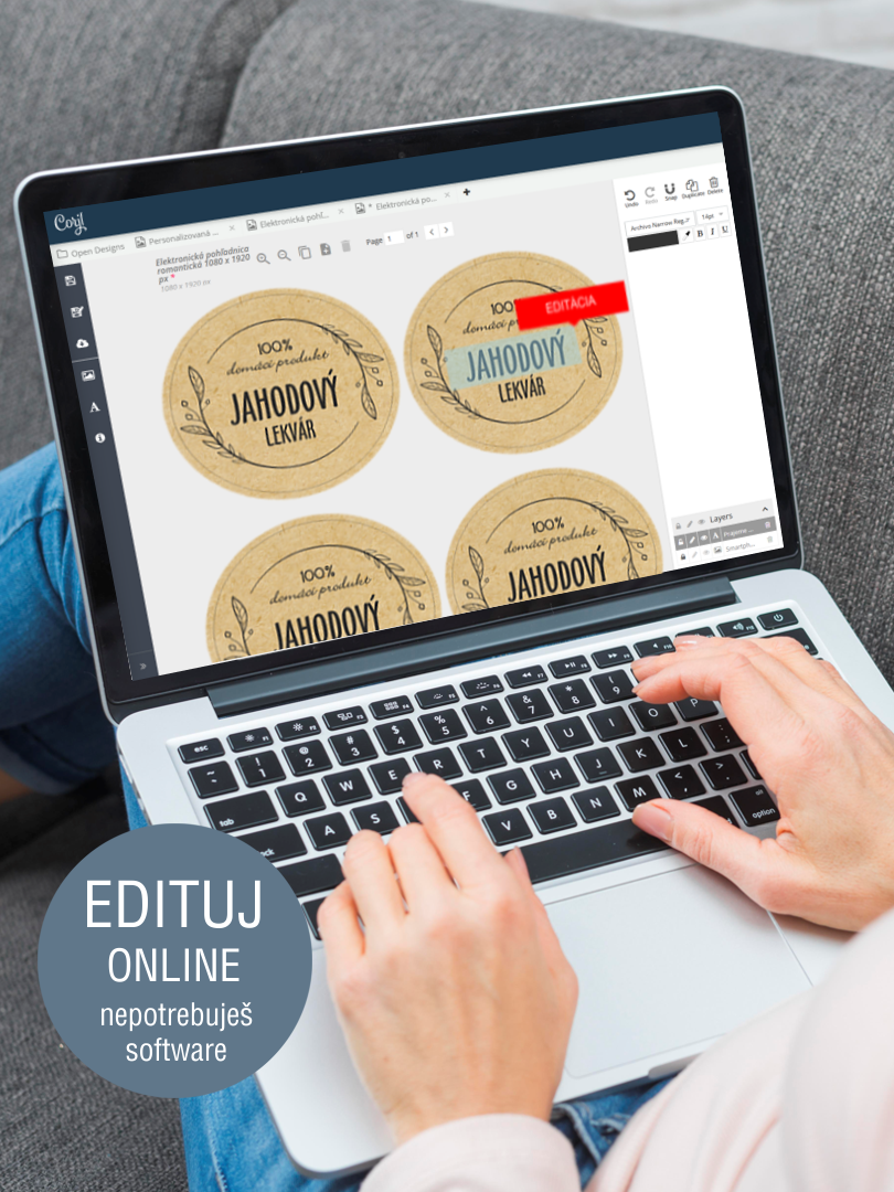 Etikety s online editáciou