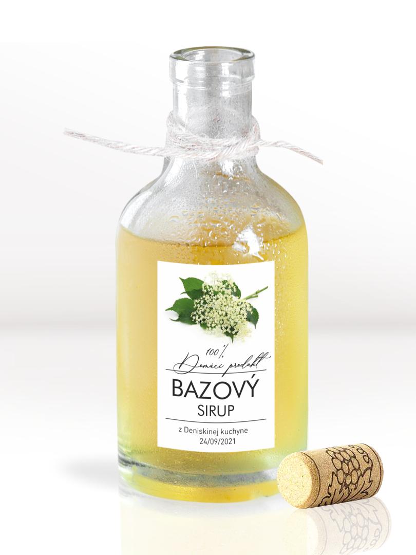 Etikety na fľaše s limonádou alebo sirupom