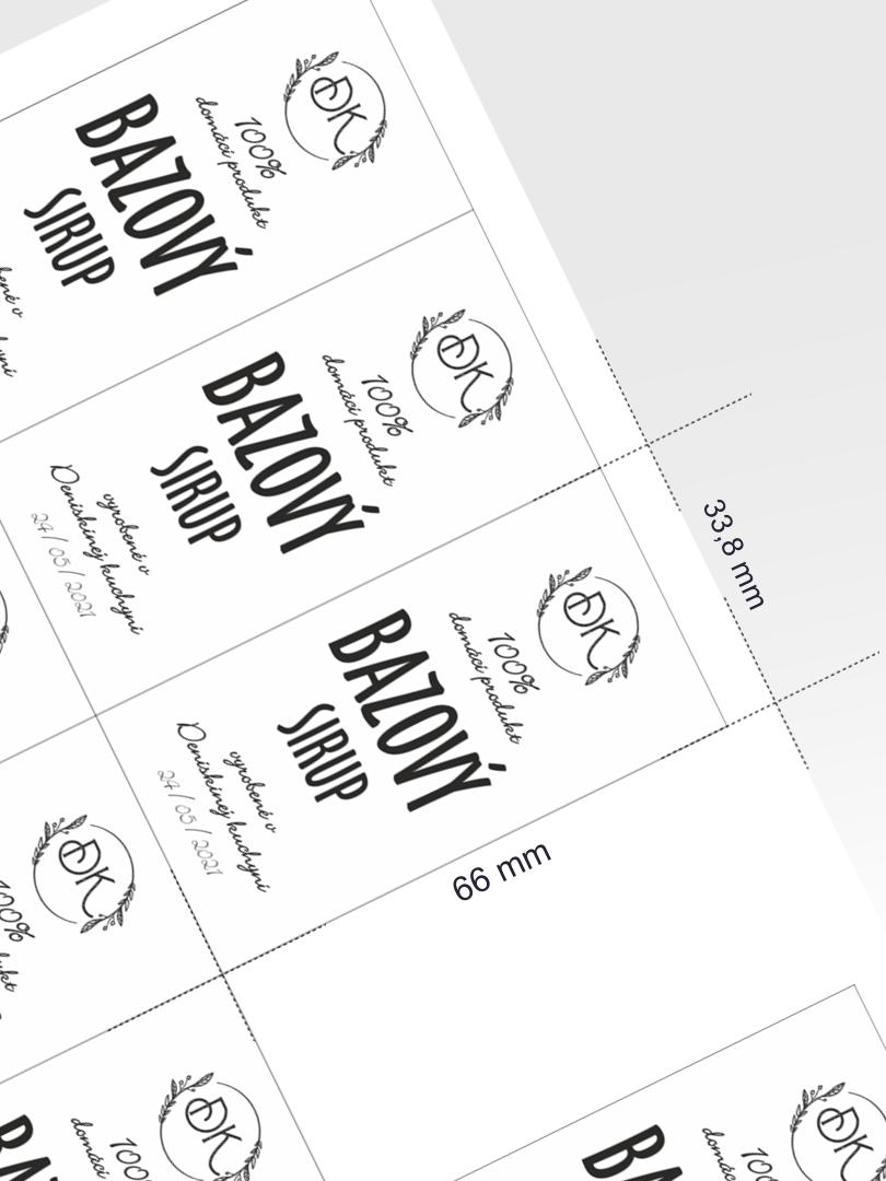 Etikety na tlač s editáciou online