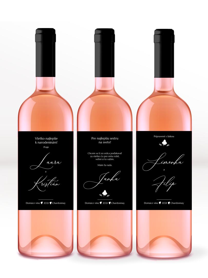 Etikety na víno s online editáciou
