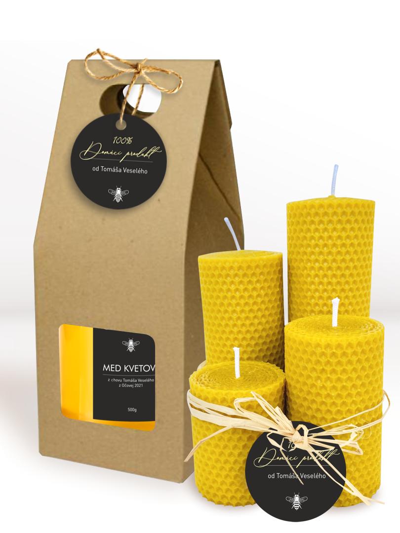 Menovky na med na vytlačenie