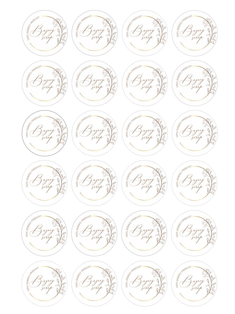Etikety na bazový sirup na stiahnutie