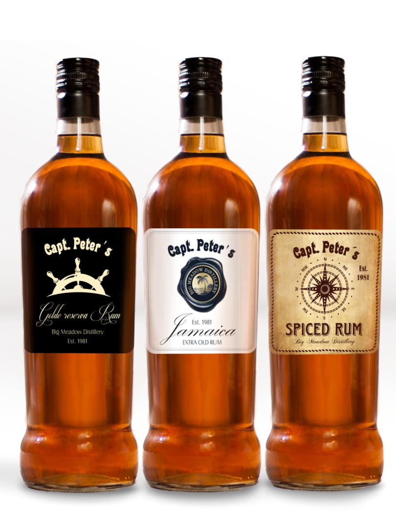 Etikety na domáci rum