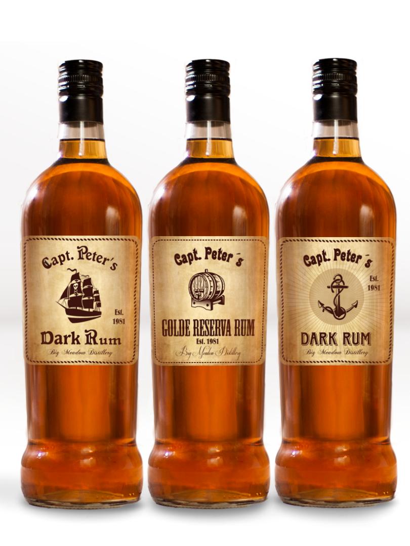 Etikety na rum retro dizajn