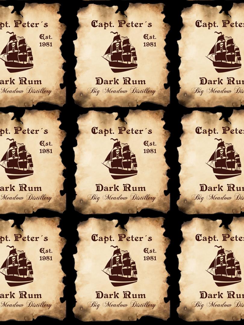 Etikety na domáci rum s online editáciou