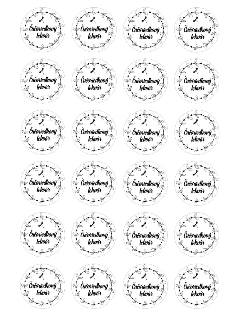 Etikety na lekváre na stiahnutie
