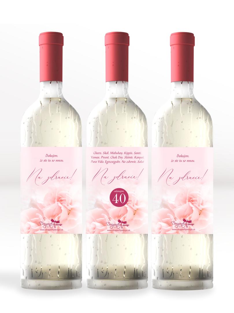Etikety na víno s osobným venovaním